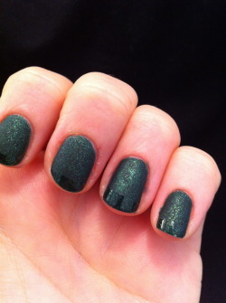 Suede funky french =DChina Glaze, Glittering GarlandChina Glaze, Matte Magic