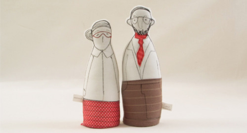 Family dolls by TIMO TIMO is a small design line, all hand-made.The materials are mostly recycled, or scraps of designers' fabrics.