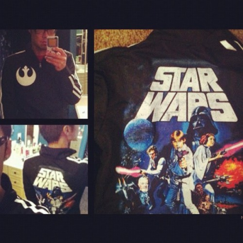 The force is strong with my new track jacket  (Taken with instagram)