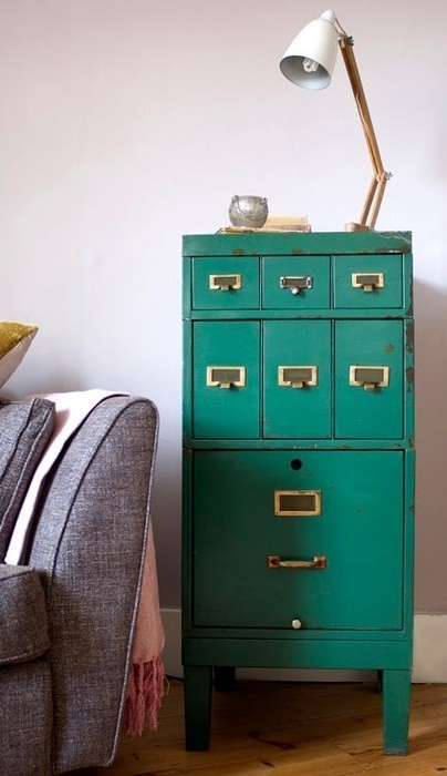 things I love: vintage file cabinet (via pinterest)