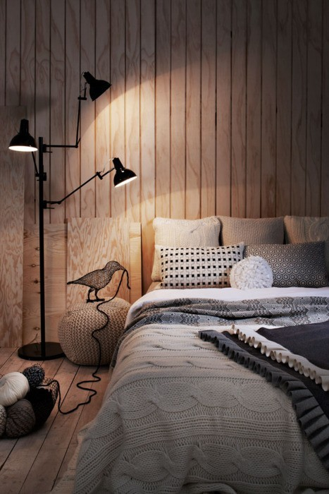 Bedroom / wool styling via convoy