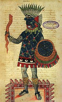abbasowas:    Tlaloc - Aztec, Mesoamerica, Mexica  Portrait of Tlaloc.From the Codex Ixtlilxochitl, mid to late 16th century  Mexica/Aztec Storm God or God of Rain