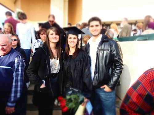 "FINALLY MY BIG SISTER GRADUATES !!! HAA 5 YEARS IN COLLAGE!!! WHATS NEXT FOR HER ?!?!? ""IF YOU DONT LIKE IT THEN PUT A RING ON IT"" hint hint hmmm lol live like theres no tomorrow' love you sister!!!"