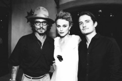 Johnny Deep, Keira Knightley and Orlando Bloom