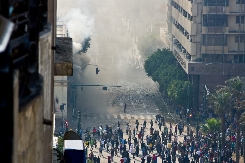 In Pictures: Tahrir square burns |   Nine people have been killed and over 300 wounded in Tahrir square as protesters clash with military troops and police.