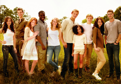 The cast of The Hunger Games on Vanity Fair.