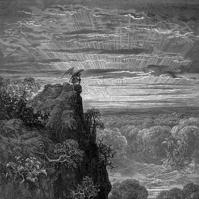 Satan by Gustave Doré in Paradise Lost.