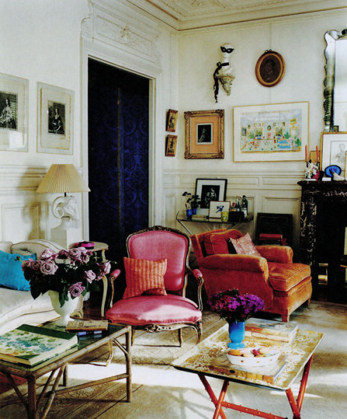thirlby:  Hamish Bowles's Paris apartment, via A Lovely Being