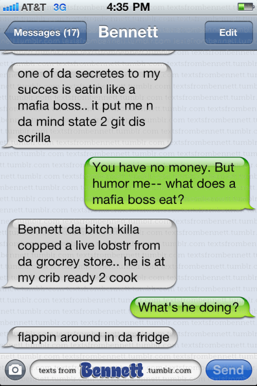 Bennett's secret to success #textsfrombennett