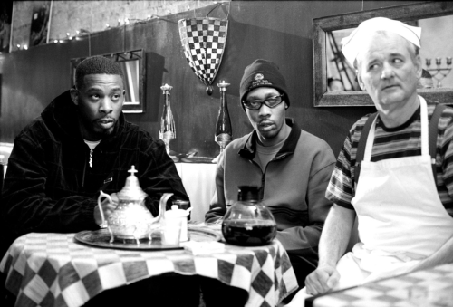awesomepeoplehangingouttogether:  GZA, RZA and Bill Murray.  who would have ever known!  Bill Murray is now in Wu Tang. his album releases summer 2012.