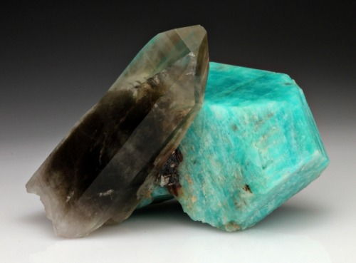 mineralia:  Microcline var. Amazonite with Quartz from Colorado