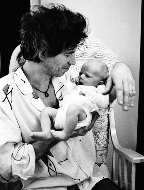 Keith Richards and Theodora Dupree Richards, in 1985.