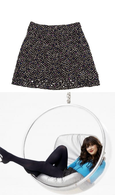 I Love Ronson Polka Dot Skirt with Cutouts- $36.00