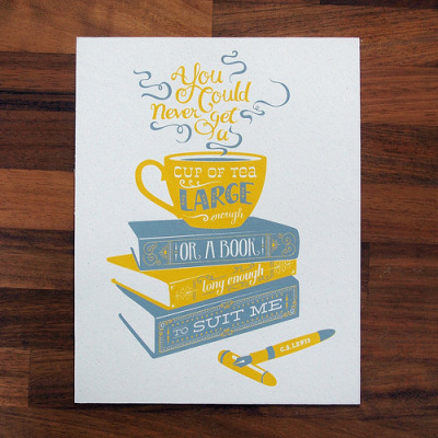 prettybooks:  Tea Screenprint (by What Katie Does)
