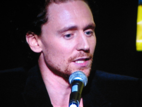 Tom Hiddleston at the Avengers panel at Comic Con