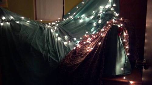 sleeping in a fort now. no big deal.
