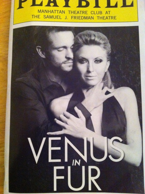I saw Venus in Fur Saturday night. It's staring Hugh Dancy (Claire Dane's husband) and Nina Arainda. I didn't know a lot about what this show was about, but it was forward for Broadway - lots of lingerie, and cussing and swearing - however it's an age old idea about Venus/Aphrodite and her effect on men or in this case - a man. It was okay - it wasn't fantastic but it was entertaning. 3 out of 5.