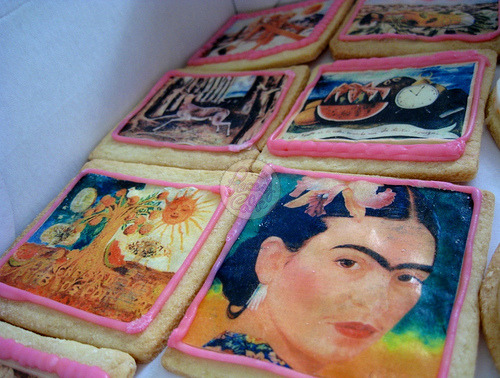 Add these cookies to the Top 10 Frida Kahlo Wants  Frida Kahlo cookies! (by Piece of Cake - Cupcakes!)