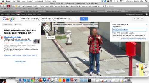 caught me on google maps.
