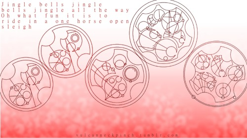 Jingle bells. In Gallifreyan. Merry Christmas! :D Loren Sherman's Guide to Gallifreyan