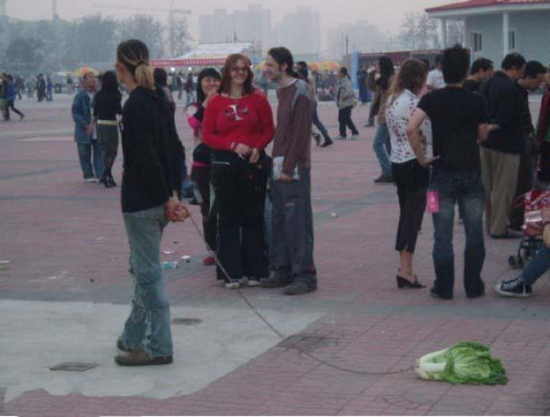 elina-rose:  oh you know  just walking my pet lettuce