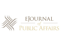 Icon and wordmark designed for the eJournal of Public Affairs at Missouri State University