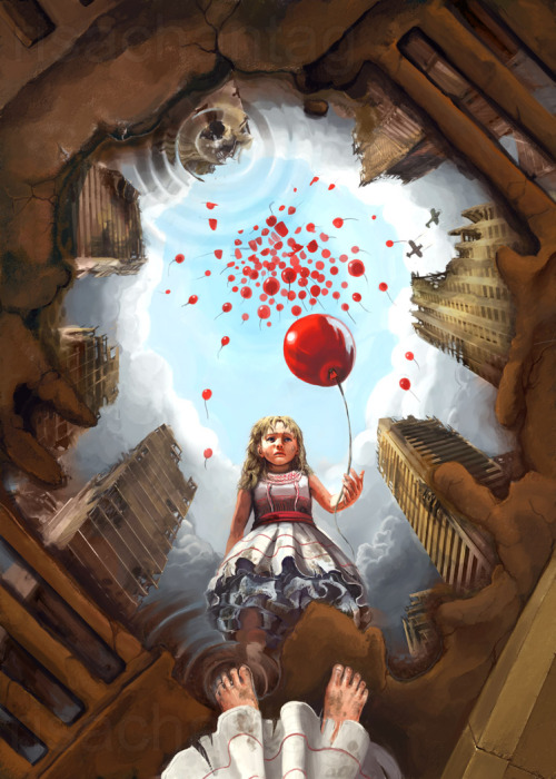 swirlofillustration:  99 Red Balloons | Lisa Rye