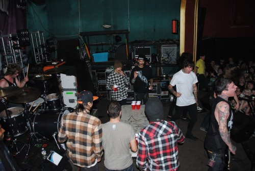 PTV beer pong during Amity. One of the best tour pranks I've seen to date.