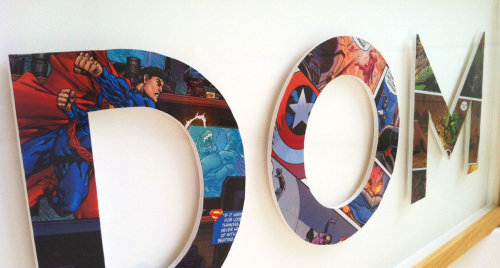 herochan:  Superhero Alphabet Letters from SpottedFlats (featuring Superman, Captain America, Hulk and more!)