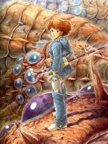 My favorite Hayao Miyazaki story is Nausicaä of the Valley of the Wind.  When I was very little, I used to watch the film in Japanese with Chinese subtitles, neither of which I could understand.  But I could understand the images, and that's all that really mattered.  I've been thinking about having an Ohmu tattooed on my back when I've earned enough money and decided on the image.  It's still just a thought, but it's becoming more and more substantial as the months pass.