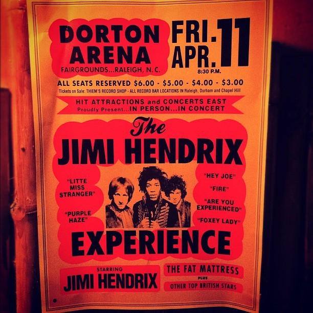 The experience. #jimihendrix #posters #music (Taken with instagram)