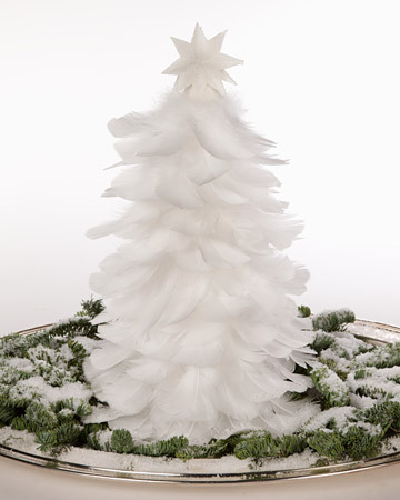 Feather Christmas tree :) Learn how to do it here.