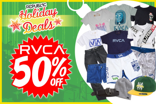 RVCA, Everything on 50% Off!