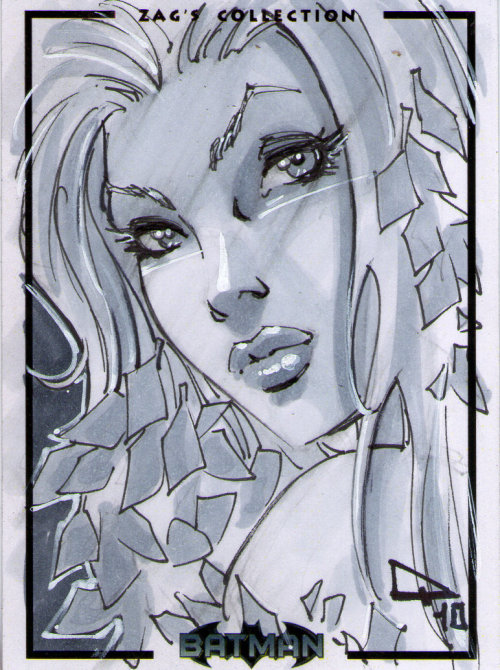 Poison Ivy Sketch card ~by Pasquale Qualano