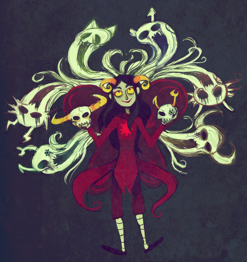 ARADIA: i guess ive spent enough time here that i just dont see death as the terrible thing the living make it out to be ARADIA: i honestly feel like its a reason to celebrate!