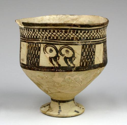 Persian goblet, c. 1800 BCE Carnegie Museum of Art, Pittsburgh, Currently not on view