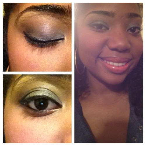New #makeup. A #blue #smokey eye. #shadylady #thebalm #black #brown #makeupforever #nofilter #iphoneography #eyeliner #curlyhair #natural #smokeyeye #lipstick #mac #maccosmetics  (Taken with instagram)