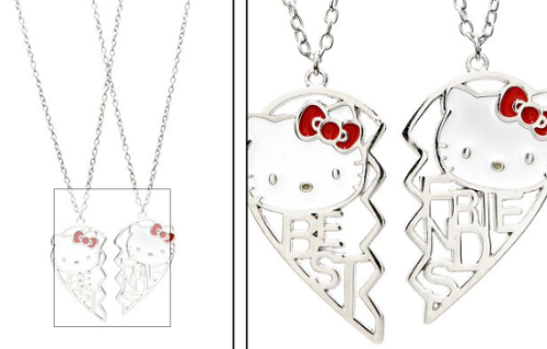 Hello Kitty Best Friends Heart Necklaces