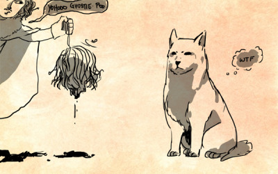 oh my god, desi, that is not how you draw dogsdirewolves.