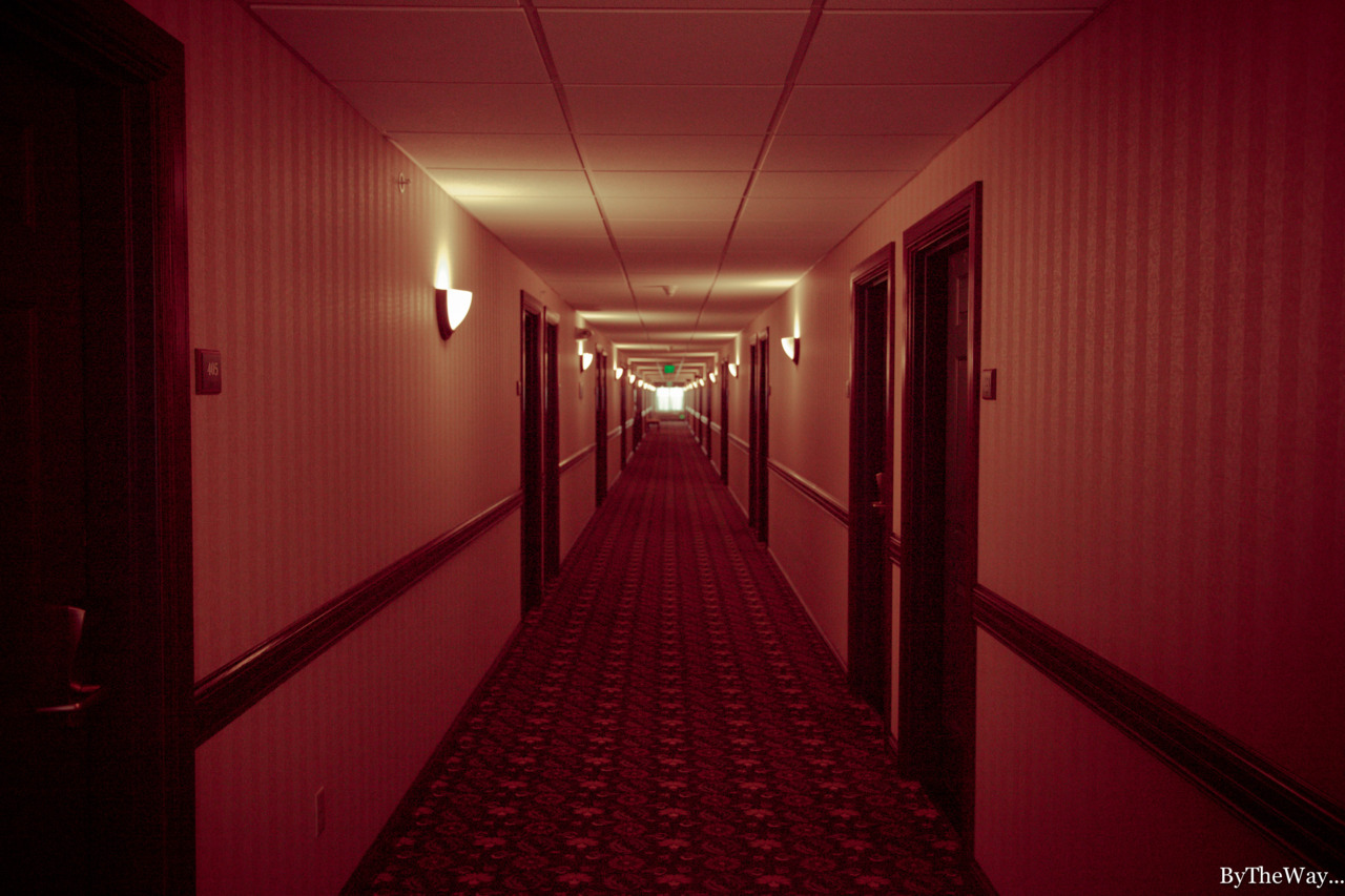 REDRUM - Shining-like hotel corridor in Cheyenne, Wyoming.