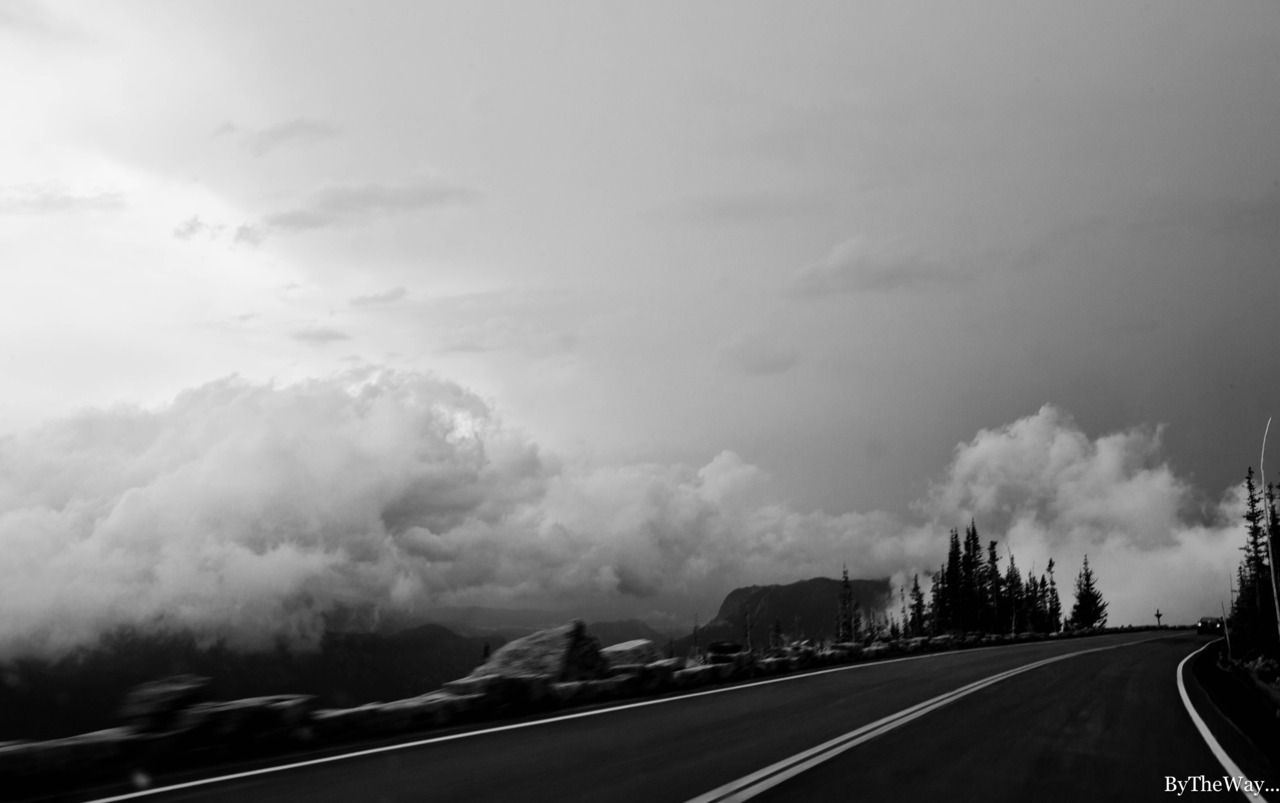 Driving over the clouds - Rocky Mountain National Park, Colorado