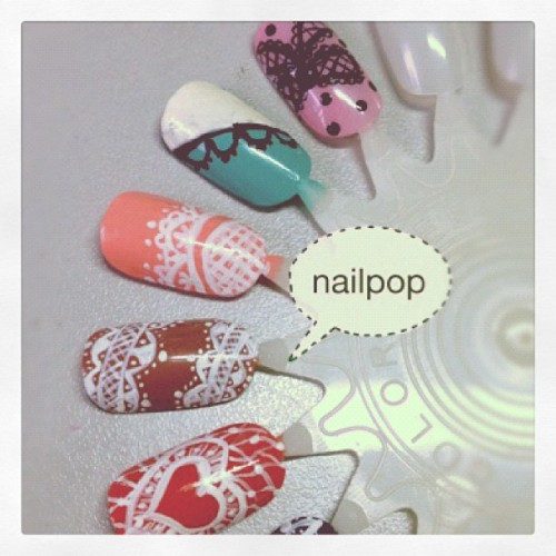 Lace nails wheel (Taken with instagram)