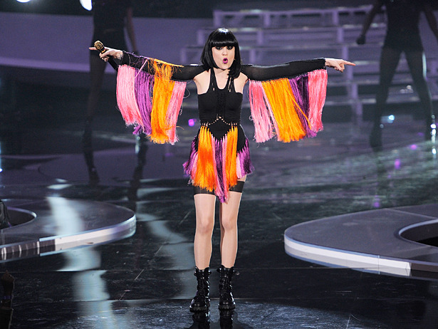 "jessiejfashion:  The outfit Jessie wore during her Domino performance at VH1 Divas celebrate Soul in New York City last night. We love the leotard with fringes :-) Gives her some proper Diva swag.  Mark Fast confirmed Jessie was wearing a custom made Mark Fast outfit on twitter. He also informed everyone that she was wearing Pretty Polly ""Im Laddered Tights"" (found here) and Terry De Havilland boots (found here).  This dress by Mark Fast is quiet similar to Jessie's custom-made outfit. It is a look from Mark Fast's SS 2011 runway."