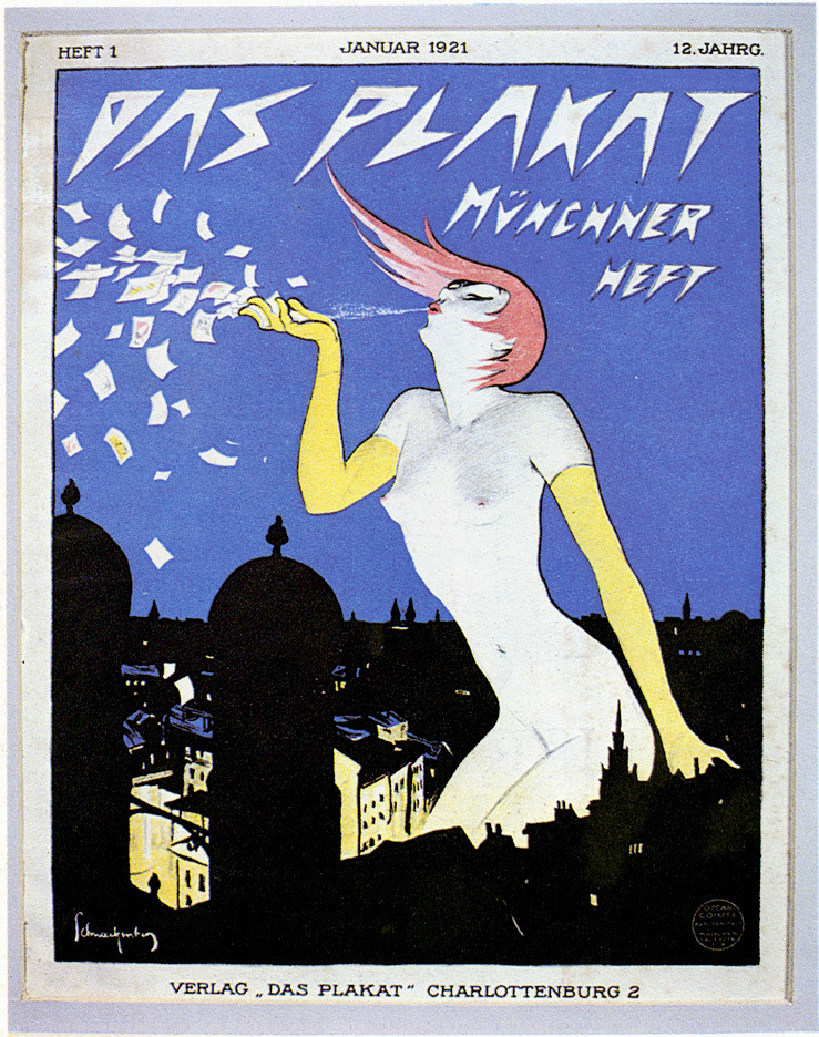 Das Plakat magazine cover (1921), illustration by Walter Schnackenberg.