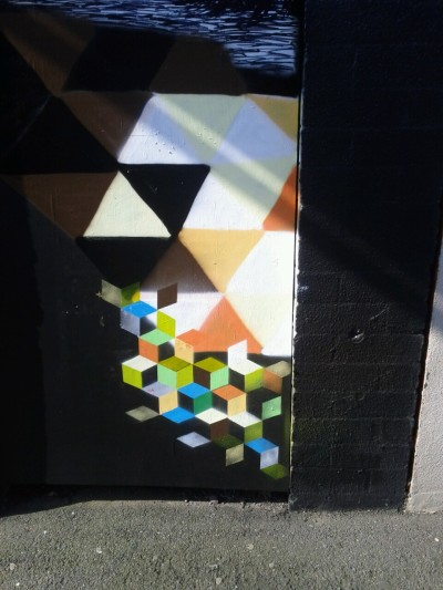 Little snippet of a door I painted with the ExRobot. For art boy gallery