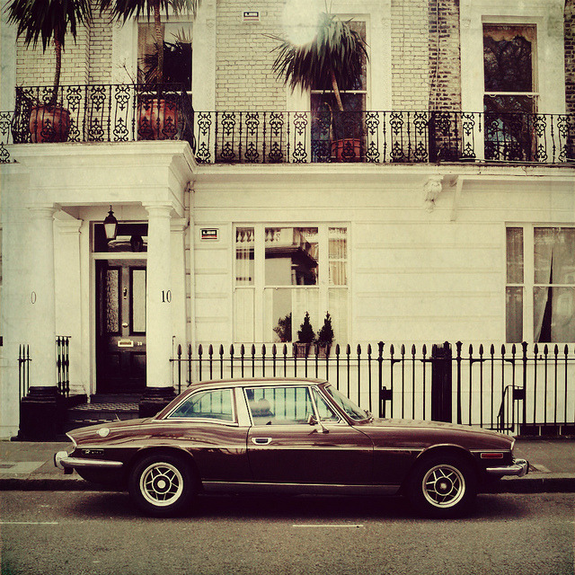 | ♕ |  Classic Triumph Stag - Chelsea, london  | by © Catherine