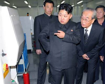 Don't worry, Kim Jong-un has been groomed for 20 years to look at things. I think we'll be ok.   Update: it's hereeeeee http://kimjongunlookingatthings.tumblr.com/ :)