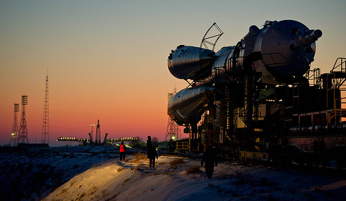 Expedition 30 Soyuz Rollout (by nasa hq photo)