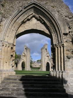 Glastonbury Abbey, the oldest Christian church in the world-Glastonbury, UK