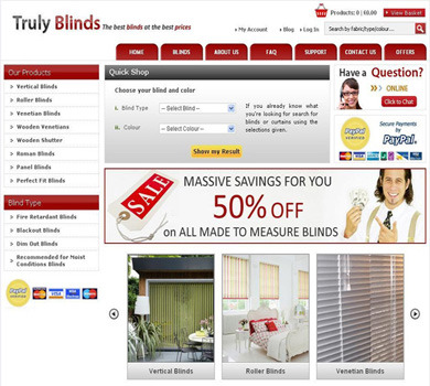 Blinds in UK - This website is a one stop to buy blinds in UK.